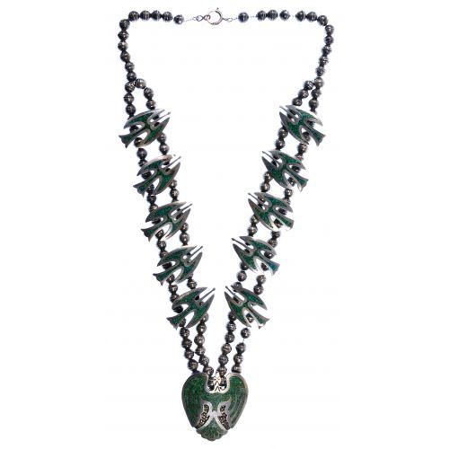Native American Silver Thunderbird Necklace