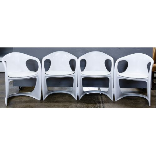 MCM White Chairs by Alexander Begge for Casala