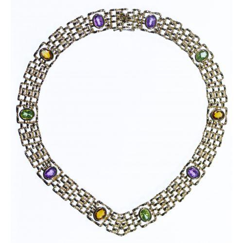 14k Gold and Semi-Precious Gemstone Necklace