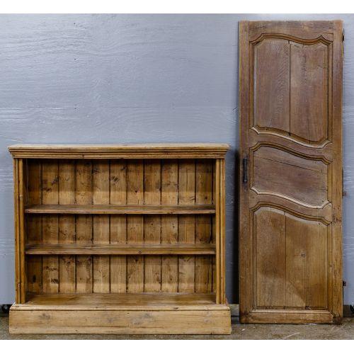 Pine Open Cabinet and Oak Door