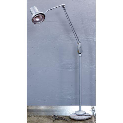MCM Gray Industrial Floor Lamp by Dazor Mfg