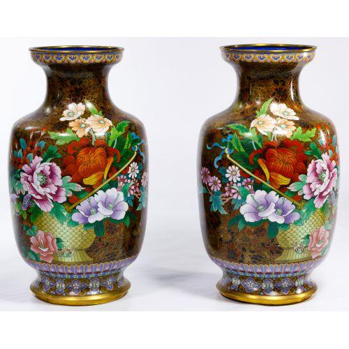 Asian Cloisonne Vases
