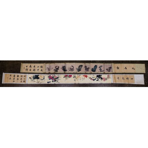 Chinese Printed Scroll Assortment