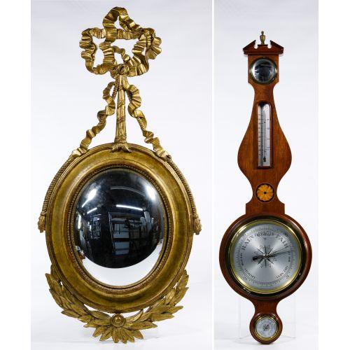 Wall Barometer and Mirror