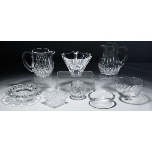 Waterford, Tiffany, Orrefors Crystal Assortment