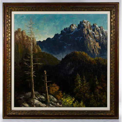 Segundo Huertas (American, 1923-2010) Oil on Canvas