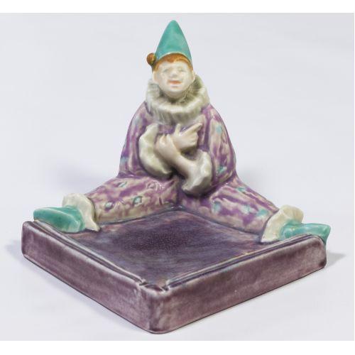 "Rookwood #6026 ""Harlequin Tray"" Figurine"
