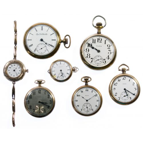 Elgin Gold Filled Pocket and Pendant Watch Assortment