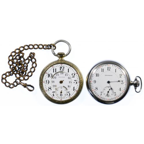 Open Face Railroad Pocket Watches
