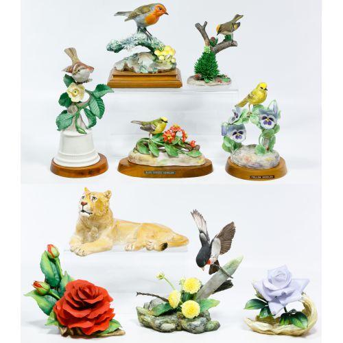 Boehm Bird, Flower and Lion Figurine Assortment