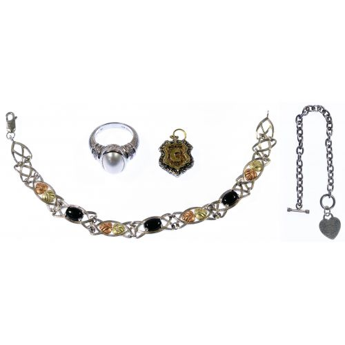 Designer Gold and Sterling Silver Jewelry Assortment