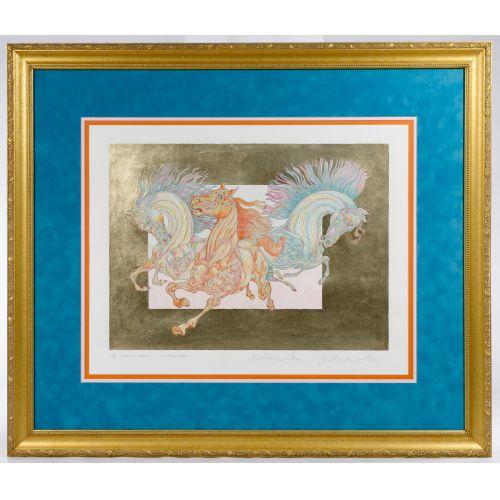 "Guillaume Azoulay (Moroccan, b.1949) ""Le Horla"" Lithograph"