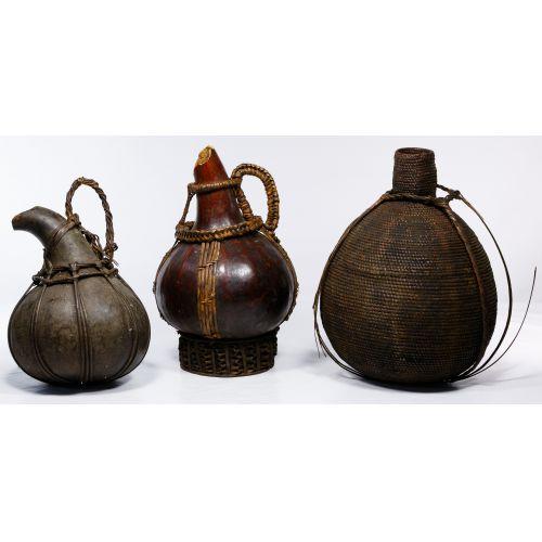 African Calabash and Basket Assortment