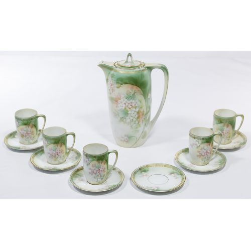 R S Prussia Porcelain Chocolate Set