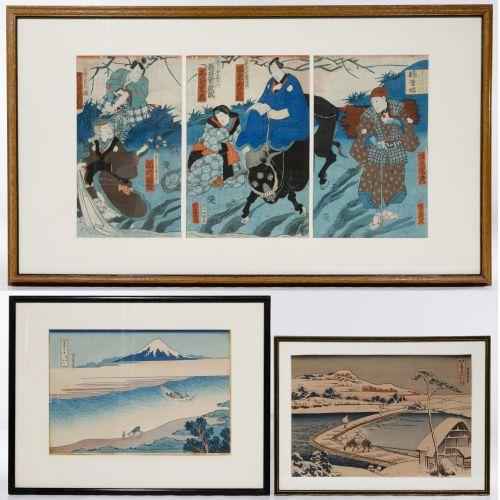 Asian Woodblock Print Assortment