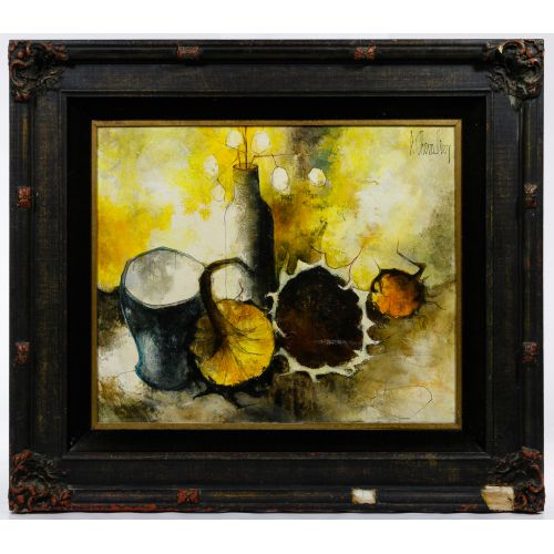 P. Chevalier (20th Century) Still Life Oil on Canvas