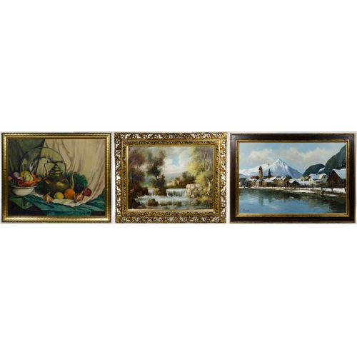 J.A. Jensen (20th Century) Oil on Canvas