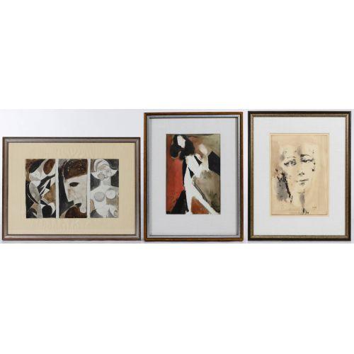 Poletti (American, 1908-1996) Watercolors on Paper