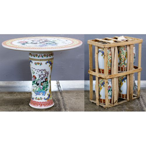Asian Style Ceramic Garden Table and Stools