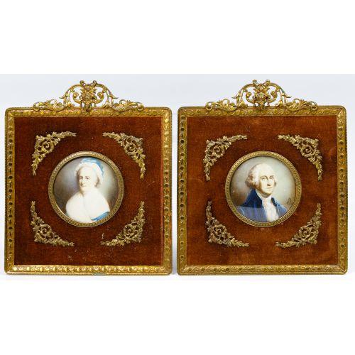 Isabel E. Smith (American, 1843-1938) Portrait Miniatures