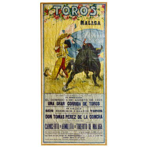 C. Ruano Llopis (Spanish 1879-1950) Bull Fighting Poster