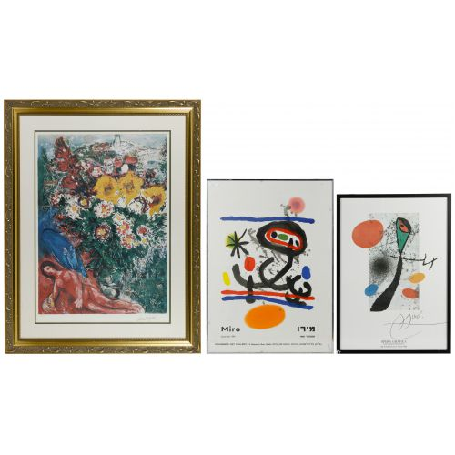 (After) Marc Chagall (Russian / French 1887-1985) and (After) Joan Miro (French, 1892-1983) Assortment