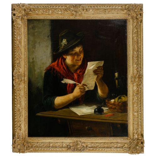 Rudolf Epp (German, 1834-1910) Oil on Canvas on Board