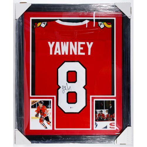 "Chicago Blackhawks ""Trent Yawney"" Autographed and Framed Jersey"