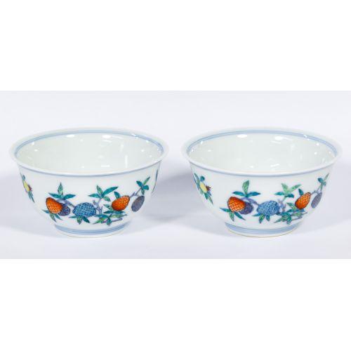 Chinese Yongzheng Doucai Cups