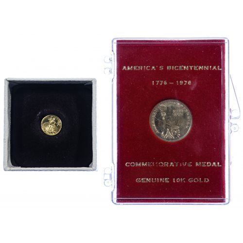 22k Gold and 10k Gold Commemorative Medals