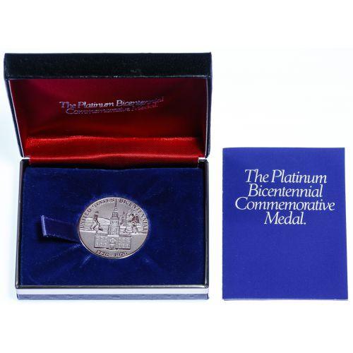 1976 Platinum Bicentennial Medal