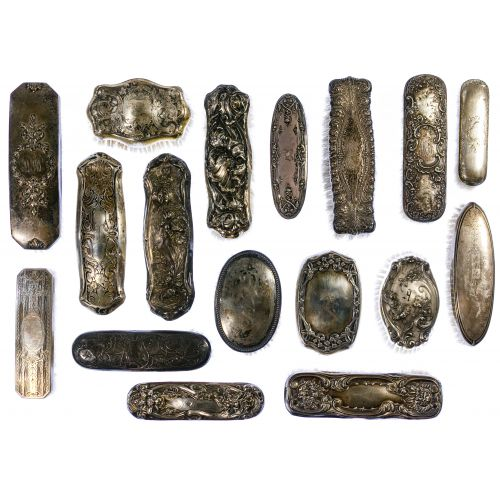 Sterling Silver Vanity Brush Assortment