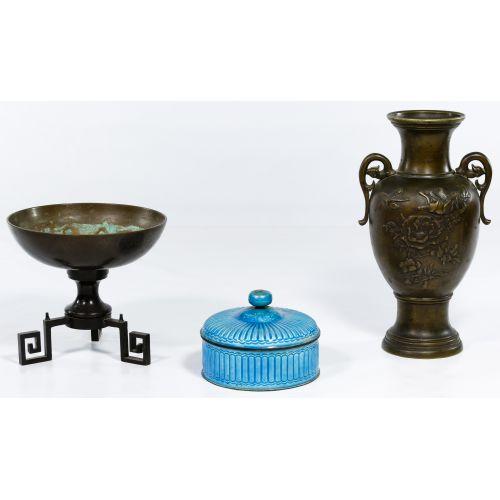 Asian Decorative Metal Object Assortment