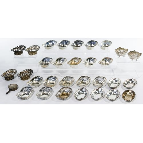 Sterling Silver and European Silver Nut Dish Assortment