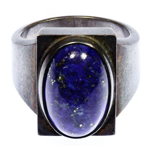 Georg Jensen Sterling Silver and Lapis Lazuli #84A Ring