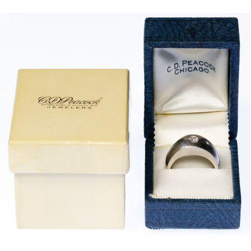 C. D. Peacock Platinum and Diamond Ring