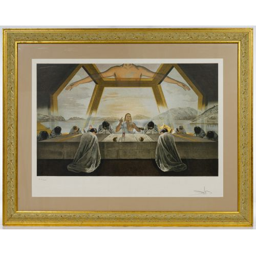 "Salvador Dali (Spanish, 1904-1989) ""The Sacrament of the Last Supper"" Lithograph"