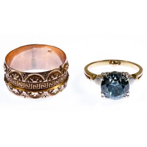 14k Rose Gold and 14k Gold and Gemstone Rings