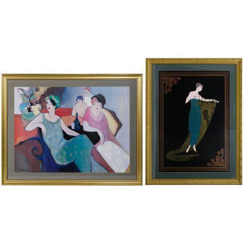 "Romain de Tirtoff (Erte) (Russian, 1892-1990) ""Emerald Night"" Print"