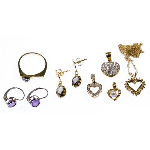 14k White and Yellow Gold Jewelry Assortment