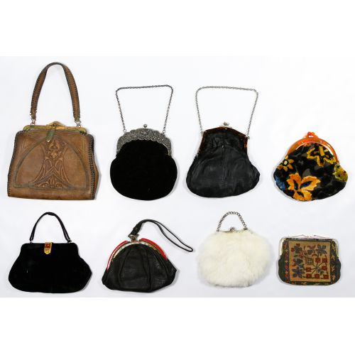 Leather, Fabric and Fur Purse Assortment
