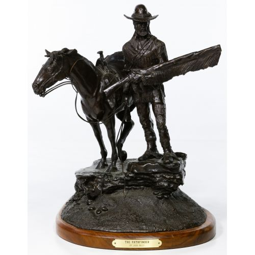 "Jack Riley (American, 20th Century) ""The Pathfinder"" Bronze Statue"