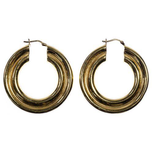 14k Gold Hoop Pierced Earrings