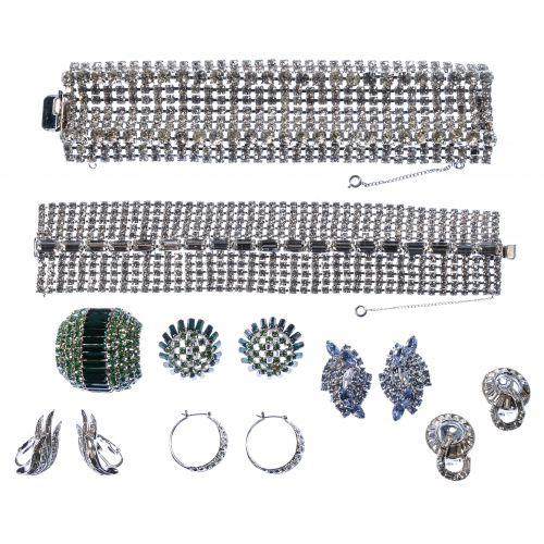Rhinestone Costume Jewelry Assortment