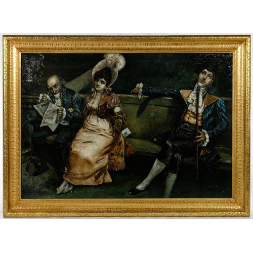 L. O. Kurz (German, 19th Century) Oil on Canvas