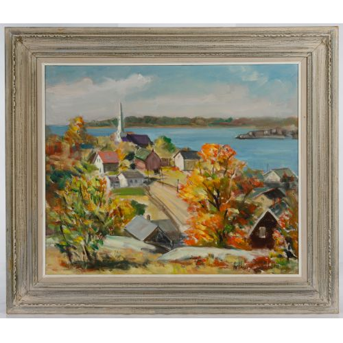 Arthur R. Safford (American, 1900-1992) Oil on Canvas