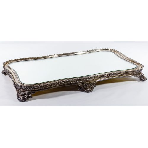 "Tiffany & Co. ""Chrysanthemum"" Sterling Silver Mirrored Plateau"