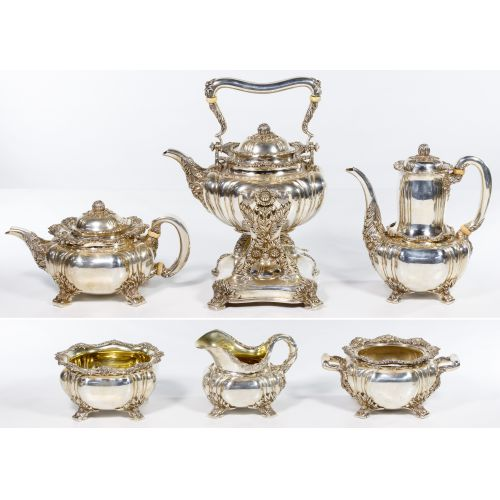 """Tiffany & Co. """"Chrysanthemum"""" Sterling Silver Tea and Coffee Service"""