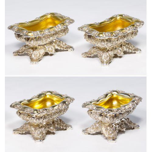 "Tiffany & Co. ""Chrysanthemum"" Sterling Silver Master Salts"