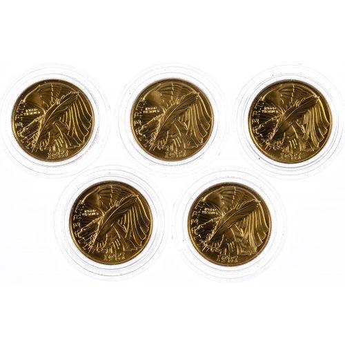 1987-W $5 Gold Constitution Assortment